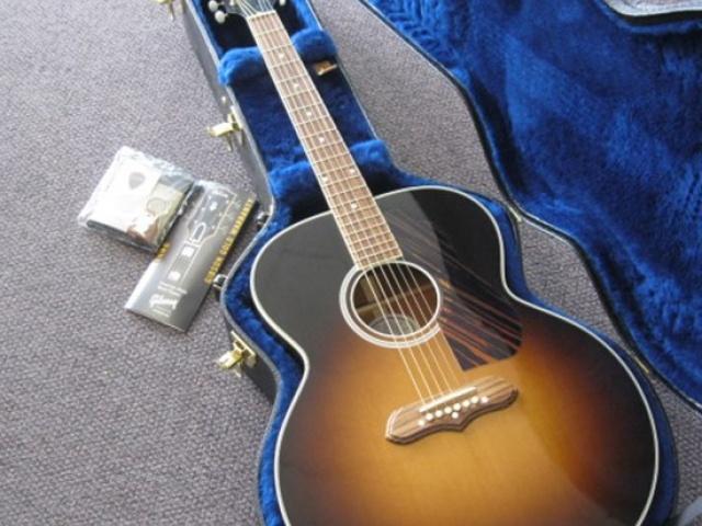 used gibson sj100 sunburst acoustic electric guitar used guitar sales. Black Bedroom Furniture Sets. Home Design Ideas