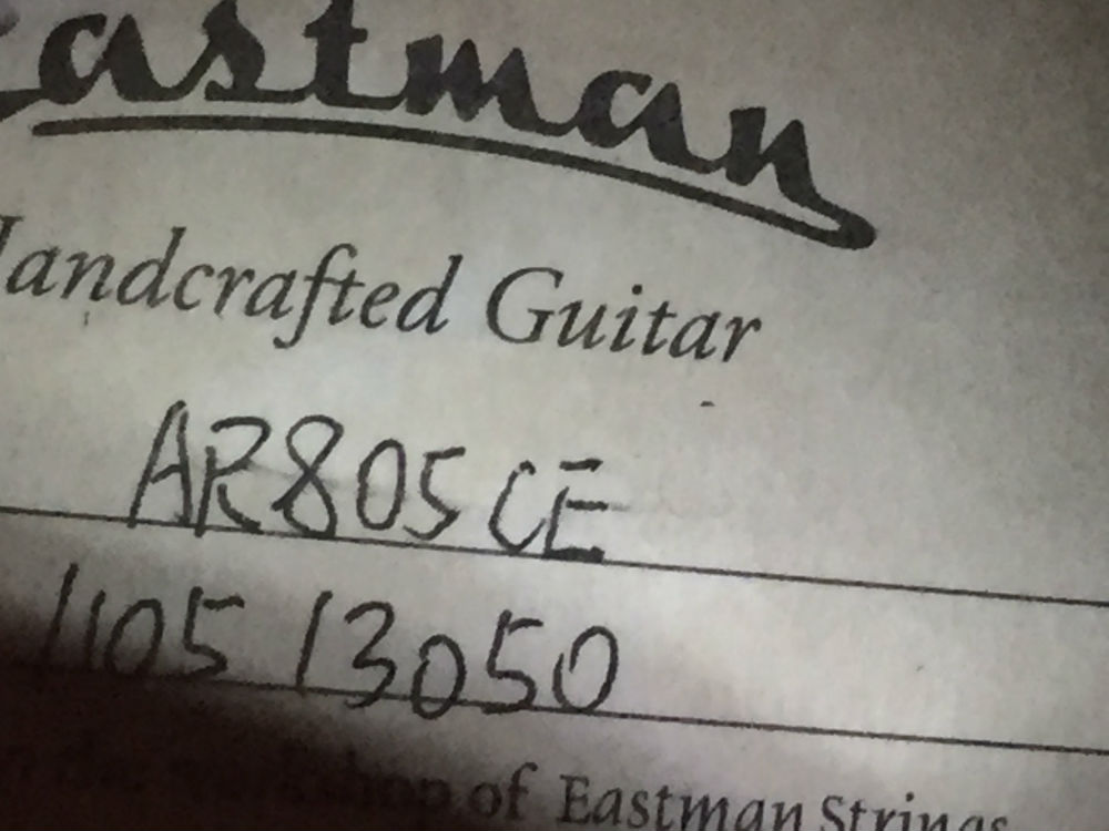 Eastman AR805CE serial number